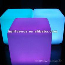 40*40*40cm Indication Charging illuminated LED Cube Chair