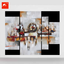 Abstract Geometric Blocks Set Oil Painting