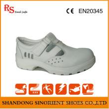 Белая микроволоконная кожаная защитная обувь ESD RS267