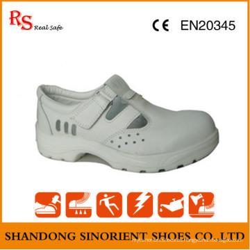 Blanco Micro Fibra de cuero ESD zapatos de seguridad RS267
