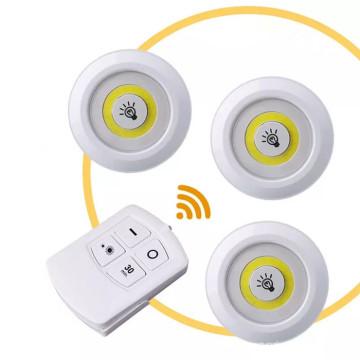 Remote Control Wireless COB Led Puck Light
