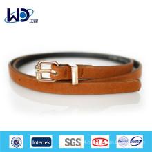2014 Fancy skinny tan leather belts