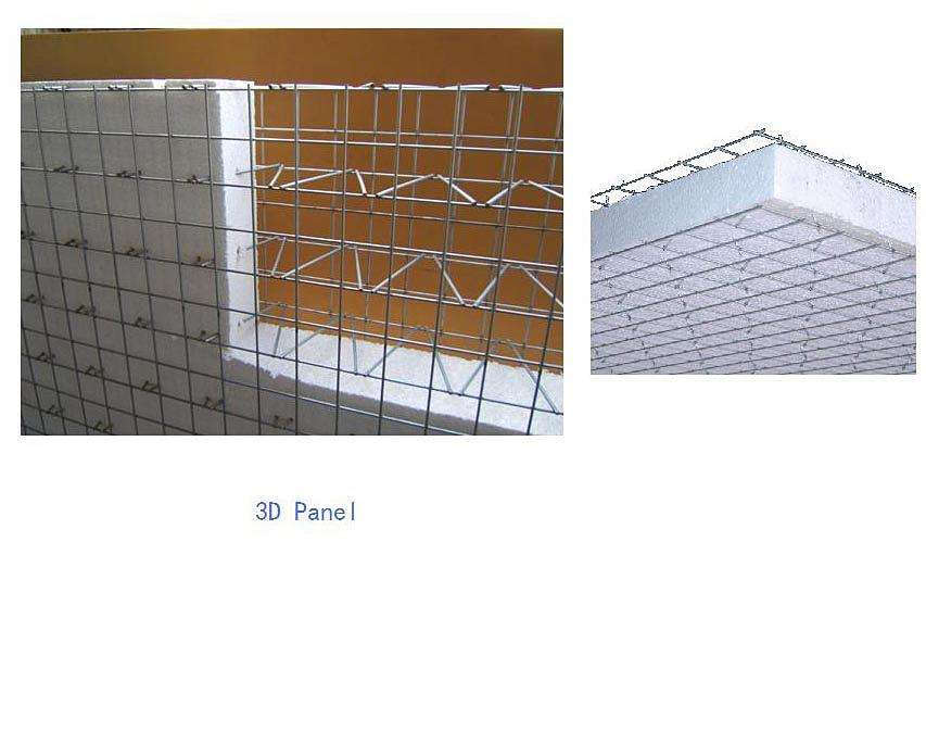 Non-galvanized 3D Welded Wire Mesh Panel