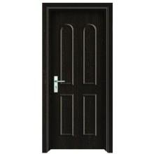 Puerta de madera del PVC