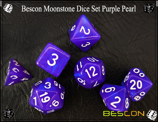 Purple Pearl Dice Set-4