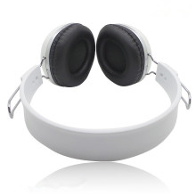 white plastic over ear head earphone extenable