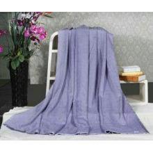 Personalised Light Purple Plain Silk Throw Blanket , Baby Custom Fleece Blankets