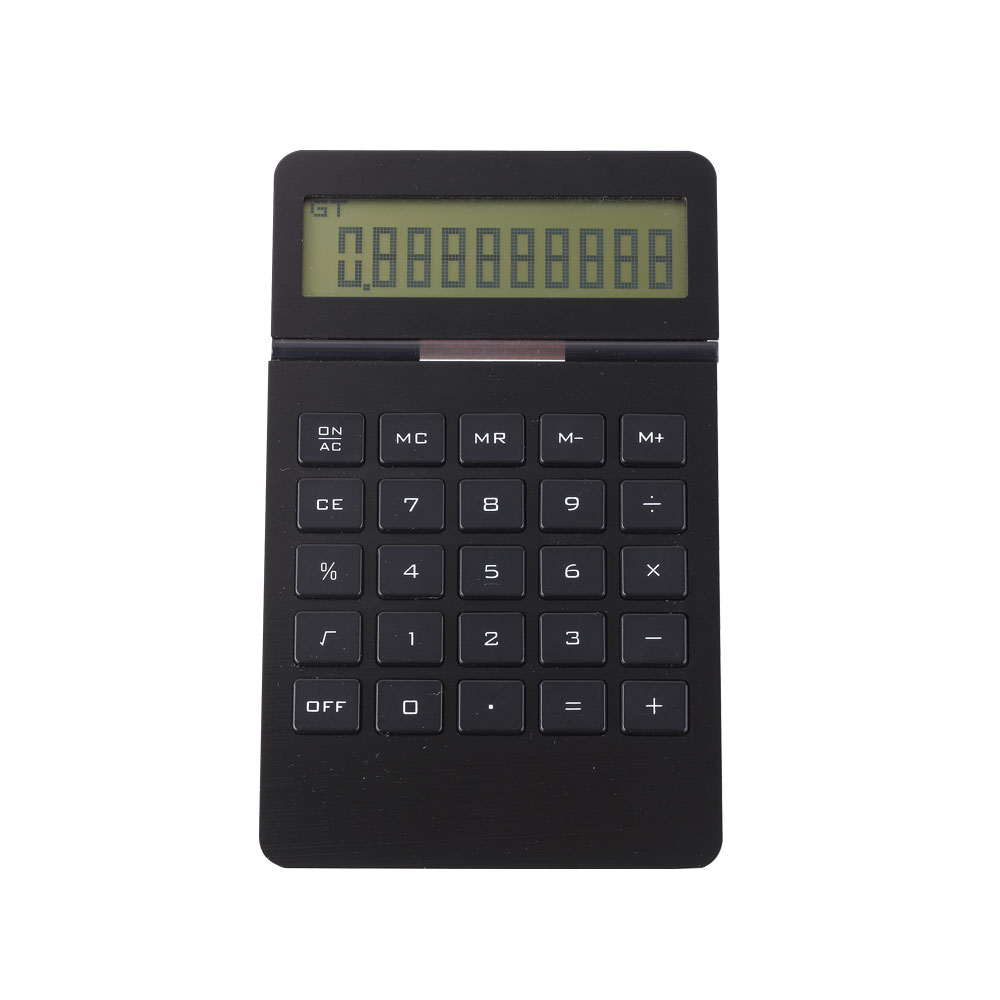 10 Digital Lcd AluminumPanel  Dual Display Calculator