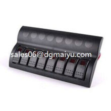 Boat 8 Gang LED Rocker Switch Panel
