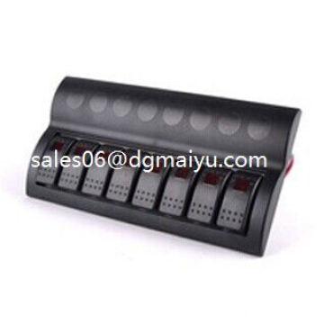 Boat 8 Gang LED Rocker Switch Panel