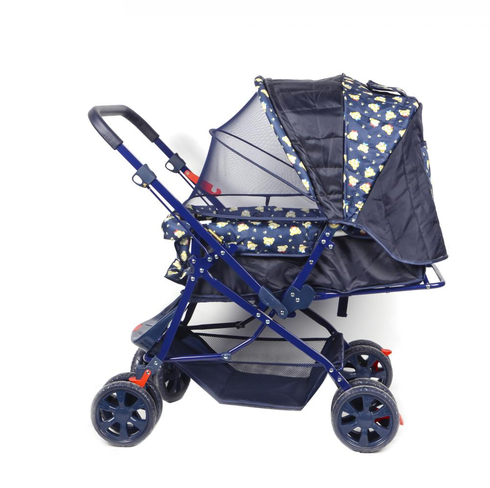 Baby Stroller with Reversible Handle Bar and Mosquito Net