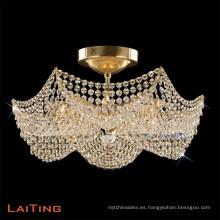 Elegante araña de interior de oro / cristal interior accesorio de la luz decorativa
