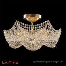 Elegant Indoor Gold/Crystal Chandelier Home Indoor Decorative Accessory Light