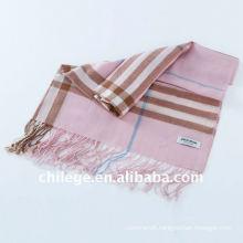 fashion high quality pure wool checkd men scarves shawls neckwear