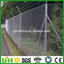 Китайская фабрика Оптовая цена Оцинкованная и покрытая ПВХ ограждение цепи, алмазная сетка 50х50 мм (производитель Anping)