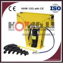 """Machine hydraulique HHW-12Q 16Q de tuyau de roulement de l'air 12T 16T pour 2 """"3"""" tuyau rond avec du CE"""