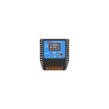 Regulador solar del sistema de la energía del regulador del PWM 12V 24V 10A con pantalla LCD y USB