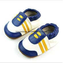 Manuelle grüne Leder Baby Schuhe