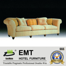 Newly Hotel Sofa Set Wooden Living Room Sofa (EMT-SF40)