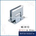 Square bevel 90 degree wall-glass hinge