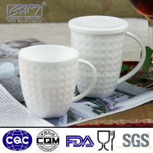 High quality plain white bone china mug