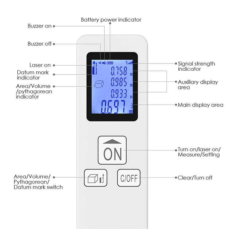 7 Digital Distance Laser Meter
