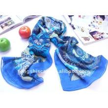 Quadratischer Schal mit Blumendruck für die Halsbekleidung zum besten Preis