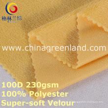 100% poliéster malha de veludo super-macio para blusa têxtil (gllml398)