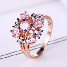 china oem manufacturer rose gold engagement rings for women