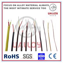 Cable de compensación de termopar aislado de PVC de tipo N