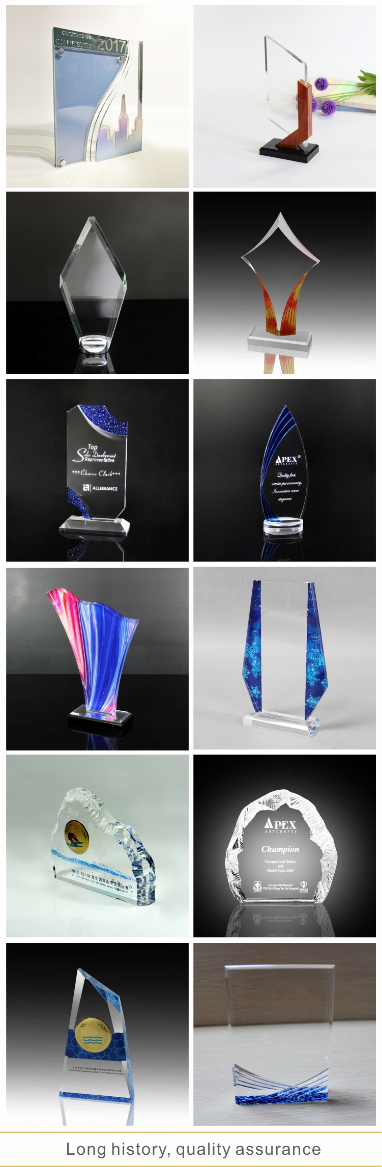Custom engraved plaques metal awards acrylic awards cheap