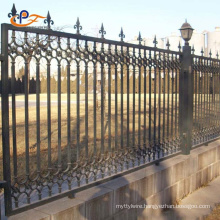 Powder Coated 4 Foot Palisade Steel Fence Metal Wrought Iron Fence