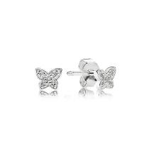 Atacado 925 Prata Mini borboleta Stud Earrings Jóias para meninas