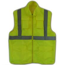 China Gold Supplier for Custom Reflective Safety Vest Hi Vis Reflective Safety Jackets for Worker Men supply to Papua New Guinea Wholesale