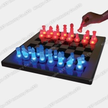 LED Scacchi, LED Glow Chess Set, Chess Set, Glass Chess Set