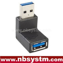 angle 90 degree USB 3.0 adapter, USB A male to A female