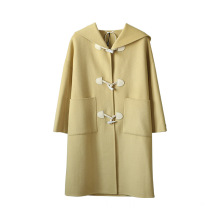 Student style long wool coat