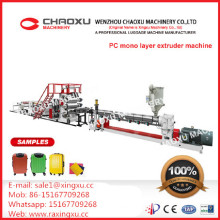 High Components Suitcase PC Plastic Sheet Extruder Making Machine From China