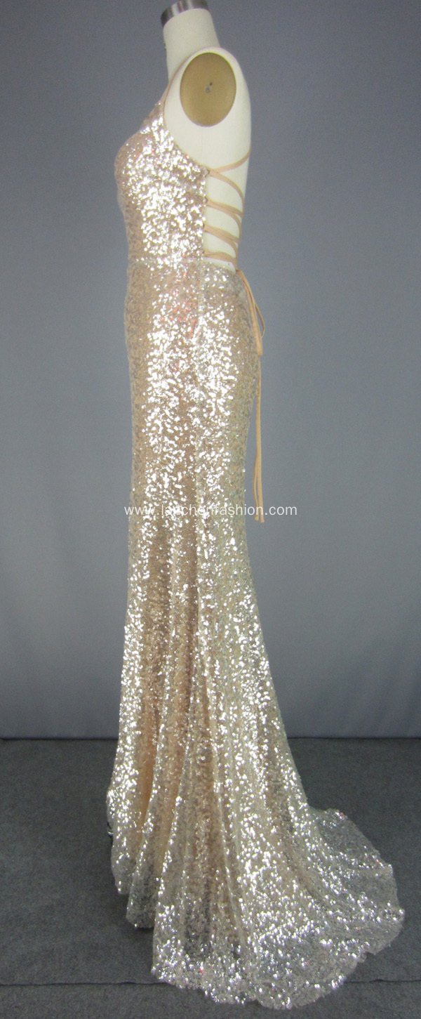 Beading Sleeveless Floor-length Prom Dresses