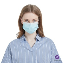 Ear-loop 3-Ply Disposable Blue Eco-friendly Mouth Mask