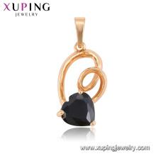 33294 vente chaude élégant bijoux en forme de coeur coloré pendentif de pierres précieuses pour les dames