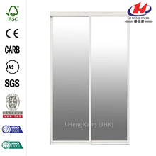Bright Clear Mirror Aluminum Framed Interior Sliding Door