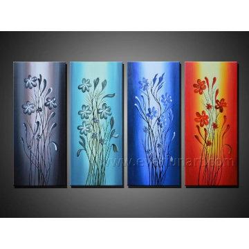 Pintura a óleo pintada à mão na lona para a decoração
