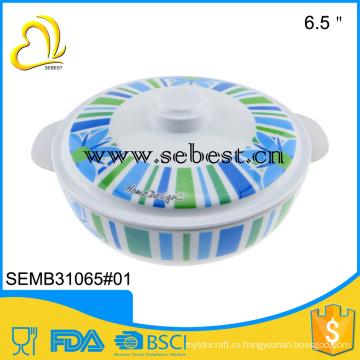 ЭПК Eco-содружественная круглая пластиковая меламиновая посуда дешевая суп чаша