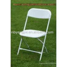 Chaise pliante en plastique pour mariage en métal