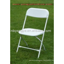 metal tube wedding plastic folding chair