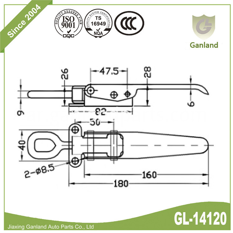 heavy duty Over Centre Catch gl-14120