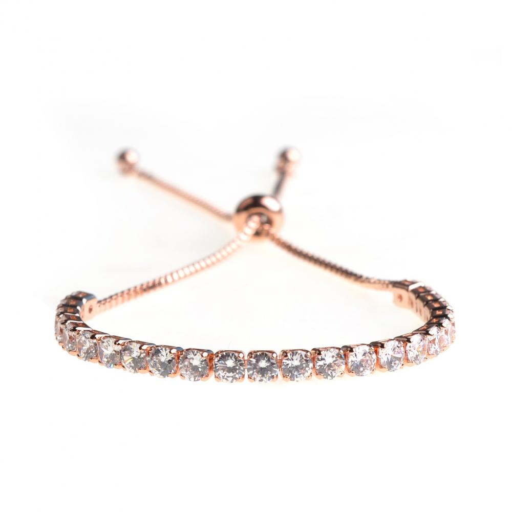 Women Fine Long Chain Zircon Bracelet Adjustable Chain Bracelet