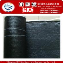 Membrane imperméable de bitume modifié par Sbs auto-adhésif pour le toit