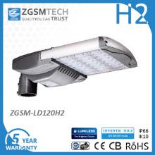 Lumière de route LED fabricant haute efficacité lumineuse 120W avec Dlc